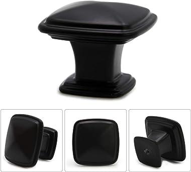 Drawer Pulls Knobs-Kitchen Cabinet Knobs Dresser knobs,Decorative knobs,Zinc Alloy knobs for Bathroom cabinets,Black Cabinet
