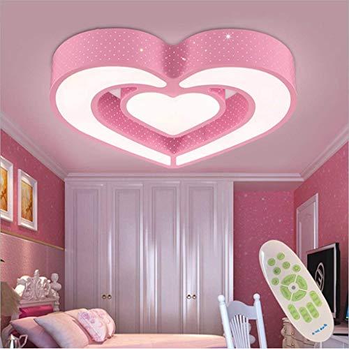 YSNJG LED plafondlamp kinderen acryl dimbaar met afstandsbediening plafondlamp lamp meisjes kamer lamp prinsessen kamer lamp cartoon lamp energie-efficiëntieklasse: A++