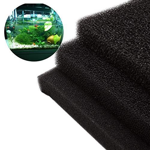 Movein Filtermatte Filterschwamm Teich - Filterschaum Filterschaum für Aquarium-/Teichfilter(50x50x2cm)