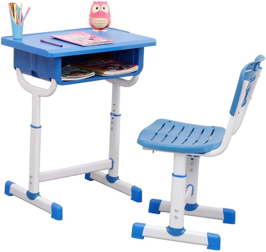 HIZLJJ Kids Desk Height Adjustable Minneapolis Mall Stude Max 50% OFF and Chair Set