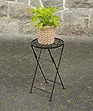 Metall Beistelltisch rund - 51 x 30 cm - Klapptisch Blumenständer Blumenhocker Pflanzenhocker für Innen und Außen
