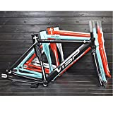 cnmd Fixed-Gear-Rahmenrahmen ultraleichte Rahmengruppe Fahrradrahmen Aluminiumrahmen und Vordergabel glattes Schweißen