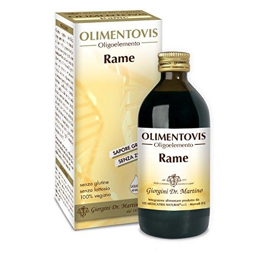 Dr. Giorgini Integratore Alimentare, Rame Olimentovis Liquido Analcoolico - 200 ml
