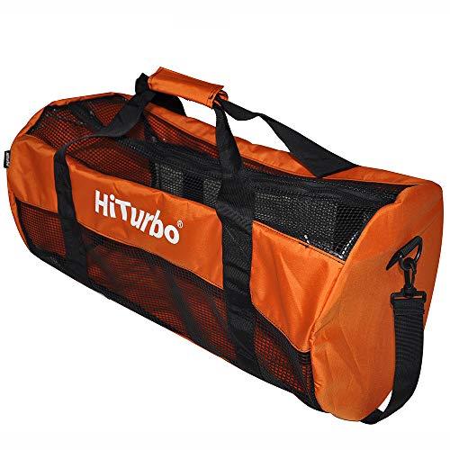 Hiturbo Netz Tauchtasche Mesh Duffle Bag Transporttasche für Tauchen Schnorcheln Reisen Strand