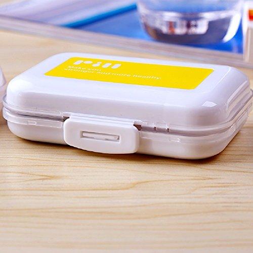 HQLCX Les 8 Compartiment Pharmacie Médecine Médecine Portatif Case Mini Pilule Box,Le Jaune
