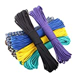 Elibone 550 Paracord Parachute Cord Lanyard Tent Rope Mil Spec Type III 7 Strand 100FT Paracord for Hiking Camping 200 Colors, Message,100feet