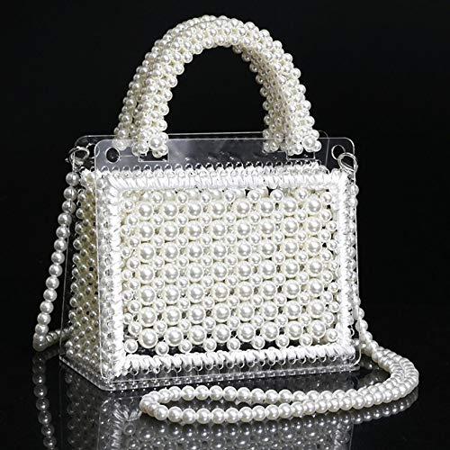 ROHXNK Bolso De Perlas con Cuentas Material De Bricolaje Hecho A Mano Bolso De Messeng De Hadas Casero Bolso Tejido con Cuentas Sueltas