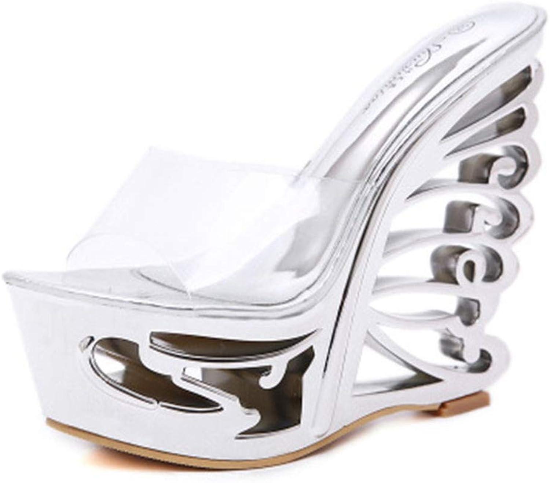 U-MAC High Heel Wedge Platform Sandals for Women Casual Soft Charming Ladies Slippers Sexy Wedding shoes