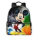 Mochila de Mickey Cartoon Mouse Minnie Anime Moda Lindo Boy Girl Mochila escolar