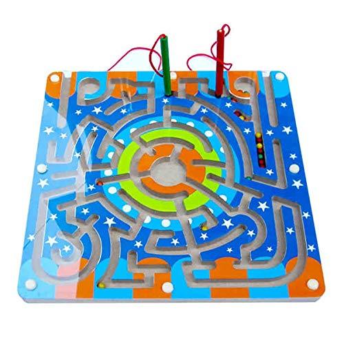 YzDnF Puzzle-Spiel Maze Racers Magnetischer Labyrinth Spielzeug Ball Ball Dribbling Stift Balance Ball Intelligenz Kinderkonzentrationstraining Kinder Für Jungen und Mädchen