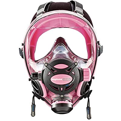 OCEAN REEF Neptune Space GDivers Integrated Full Face Diving Mask, Pink, Small/Medium