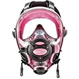 OCEAN REEF Neptune Space GDivers Integrated Full Face Diving Mask, Pink, Medium/Large