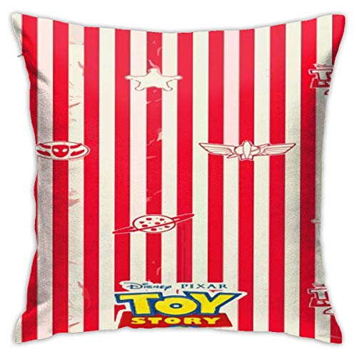 ingshihuainingxiancijies Toy Story Red Throw Pillow Covers 18'X 18'Inch Square Shape Decorative Cushion Cover for Couch Sofa Pillow Set