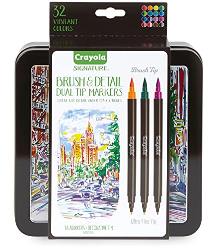 choose the best markers for coloring books for adults - cryola brush markers