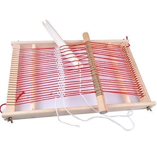 Liery Webrahmen, Weaving Loom Kit Jungen Handgewebter DIY-Anzug Aus Holz Multifunktionswebstuhl