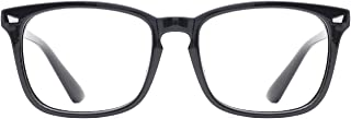 TIJN Unisex Stylish Square Non-prescription Eyeglasses...