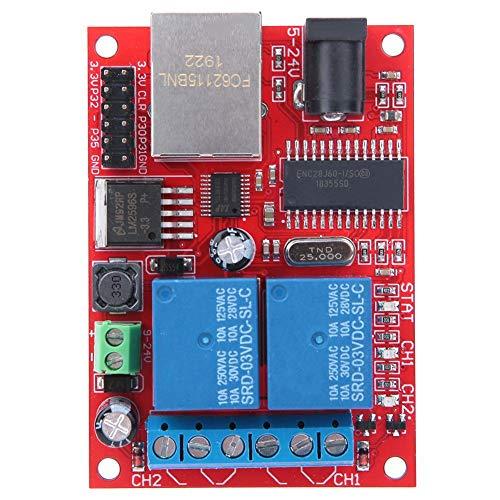 Modulo Di Controllo Dc5V-24V Interruttore Di Ritardo Della Scheda Relè Ethernet A 2 Vie Di Alta Qualità Lan