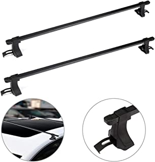 SCITOO fit for 1990-2007 2009-2012 2014 Honda Accord,1990-2015 Honda Civic Aluminum Alloy Roof Top Cross Bar Set Rock Rack Rail
