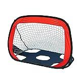 JKGLD Kids Football Goal Kids Football Nets 2 in 1 Pop Up Goals,Children's Football Gate Folding Portable Football Net Football Gate Portable Soccer Goal (Color : Black, Size : One Size)