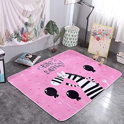 Find Bargain Fancy Zebra Pattern Baby Shining Mat Thick Children Play Mat Velvet Carpet Baby Crawlin...