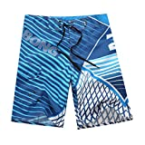 YOUJIA Leisure Pantalones Shorts Playa Surf Trajes De Baño para Hombre Azul S