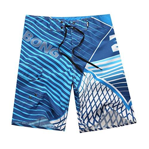 YOUJIA Leisure Pantalones Shorts Playa Surf Trajes De Baño para Hombre Azul M