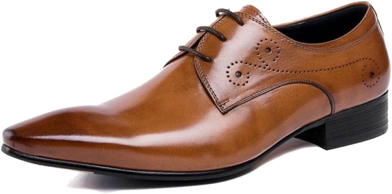 herr Genuine läder Derbys Pointed -toe Business Business Business bilve skor Kostym Brogues Lakes -ups skor for Manlig formell bröllopsfest  med billigt pris för att få bästa varumärke