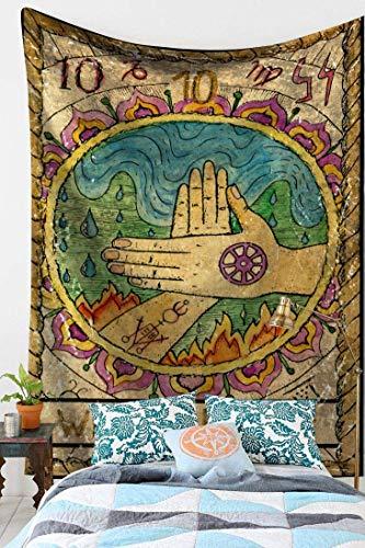 Mandala tapiz indio Bohemio Hippie reina sirena cartel Art Deco tapiz tela de fondo A14 150x200cm