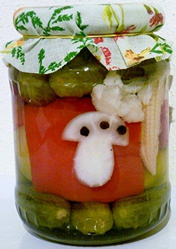 """Mixed Pickles eingelegt, scharf, mit Motiv\""""Glückspilz\"""" ideal zum Verschenken aus Ungarn vom Bauern"""
