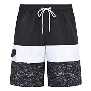 Tyhengta Men's Board Shorts Quick Dry Swim Trunks with Mesh Lining