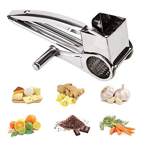 Winnes Raspelmühle für Käse, manuell, Tisch, montiert, Mutter, Körner aus Metall, Handarbeit, Lebensmittel, Küchenwerkzeug, drehbar, Käsereibe