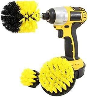 Drill Brush Attachment 3 Pack- Power Scrubber Brush Cleaning Kit - All Purpose Drill Brush for Bathroom Surfaces, Grout, F...
