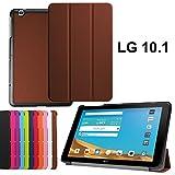 asng LG G Pad X 10.1Case–Ultra Slim Leicht Standing Cover für LG G Pad 225,7cm (V940)/LG G Pad X 25,7cm (4G LTE at und T V930) Android 2015Tablet Braun