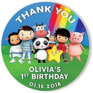 Little Baby Bum Thank You Birthday Stickers