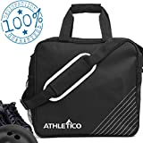 Athletico Bolsa de Bolos Essential – Bolsa de Bolos de Bolos con Soporte Acolchado para Bolas de Bolos, Negro