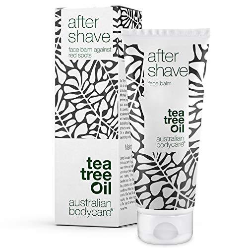 After Shave Balm de Australian Bodycare para hombres, con aceite de árbol del té, 100 ml | Alivio inmediato para después del afeitado | Hiratante que calma la irritación y rozaduras