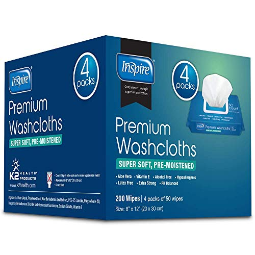 Adult Wet Wipes   Adult Wash Cloths Extra Large, Adult Wipes for Incontinence & Cleansing, 8'x12', 200 Count …