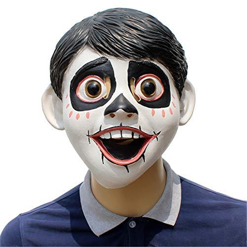 VUKUB Sognare Intorno Al Coco Little Boy Maschera Di Halloween Costume Maschera Cosplay Maschera Completa Testa Di Lattice Fuoco Lupo