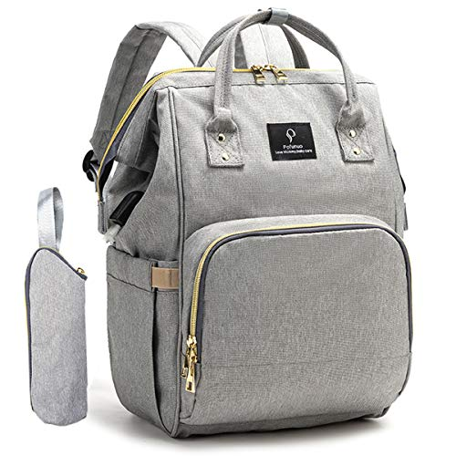 Diaper Bags for Baby Girl, Pofunuo Diaper Bag Backpack with USB Charging Port Baby Bag