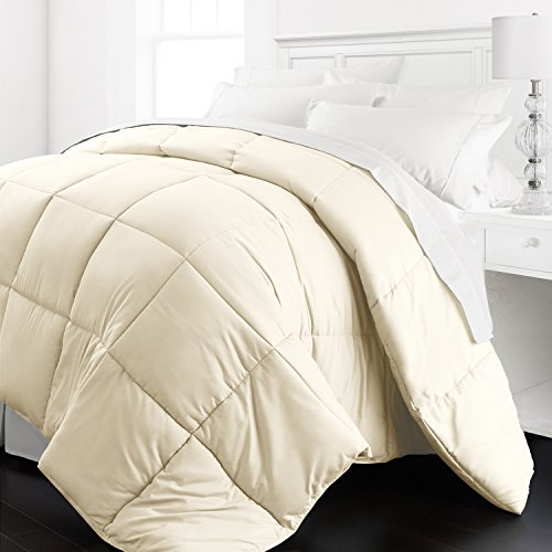 Beckham Hotel Collection - Lightweight All Season - Luxury Goose Down Alternative Comforter - Hotel Quality Comforter and Hypoallergenic  -Full/Queen - Ivory