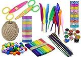 Lakeer DIY Craft Kit Pack of 237 pcs Craft Feathers, Pom Pom, Glitter