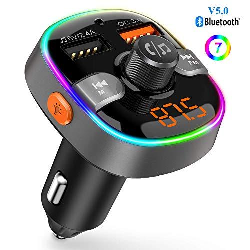 professionnel comparateur Bluetooth 5.0 Transmetteur FM Lecteur MP3 Adaptateur radio sans fil Kit mains libres pour voiture,… choix