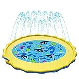 Aspersor de Juegos de Agua Splash Pad Sendowtek Tapate de Agua Juegos de Salpicaduras Juguete al Aire Libre para Niños Bebe (170cm)