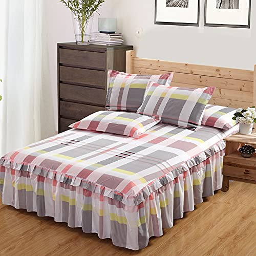 NHhuai Comfortable Sheets Machine Washable Breathable Fabric Korean bed skirt one-piece bedspread