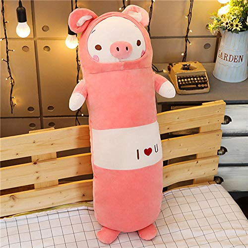 Liuyang V Pillow Cases 30/60Cm Soft Animal Cartoon Pillow Cushion Cute Fat Dog Cat Totoro Penguin Pig Frog Plush Toys Stuffed Lovely Birthyday Gift-65Cm_Pink_Pig