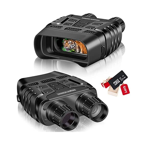 """Night Vision Goggles, Night Vision Binoculars with 2.31"""" TFT LCD View Screen and 960P Image&Video, Digital Infrared Binoculars with Night Vision with 32GB Memory Card for Hunting & Military"""