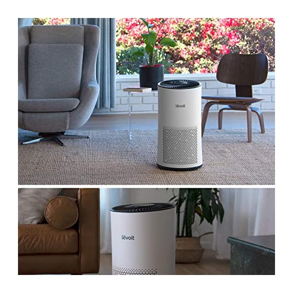 LEVOIT Air Purifier for Home Large Room with H13 True HEPA Filter, Air Cleaner for Allergies and Pets, Smokers, Mold… 6 Professional Air Care: Breathe in air that's free of 99. 97% of 0. 3 micron airborne particles such as dust, and pollen The activated carbon filter absorbs cooking odors, household odors, smoke, and volatile organic compounds (VOCs) Ideal for Allergies and Pet Owners: True HEPA Filter reduces pet odors, and traps pet fur and other contaminants It also helps relieve allergies by capturing airborne contaminants such as dust, pet dander, pollen, and mold. Wide Coverage: Enjoy fresh air in only 30 minutes in rooms as large as 1076ft², and 15 minutes in rooms as large as 538 ft². Maximum benefits 538 ft².