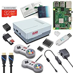 Raspberry Pi 3 Model B+ (Plus) (RPi 3+) Released in March 2018--Broadcom BCM2837B0,Cortex-A53, 64-bit SoC @ 1.4 GHz Features Upgraded On-board WiFi and Bluetooth Connectivity Great Retro Gaming look and feel--Includes 2 Newly Upgraded Classic USB Gam...