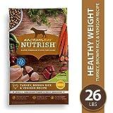 Rachael Ray Nutrish Premium Natural Dry Dog Food, Turkey, Brown Rice & Venison Recipe, 26 Pounds