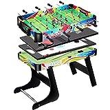 Combo Multi Mesa determinado del juego de hockey de interior diapositivas juego de la Tabla 4 en 1 plegable Entretenimiento Mesa de 32' con mesa de billar Mesa de ping pong Mesa de futbolín fútbol for
